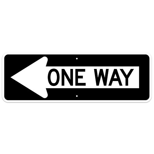 One Way - Arrow Left