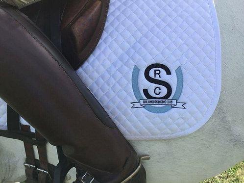White Saddlecloth with SRC logo GP