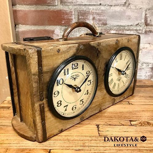 Recycle Brick Mould Dual Clock