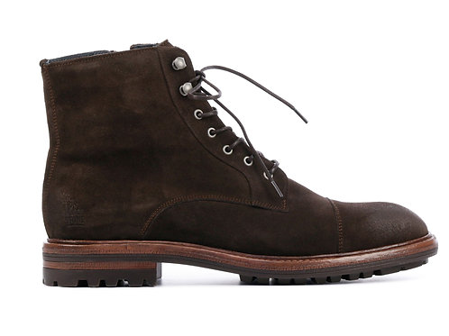 HIGH-TOP SUEDE BOOTS