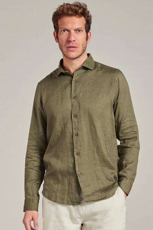 Jagger Shirt Linen Army