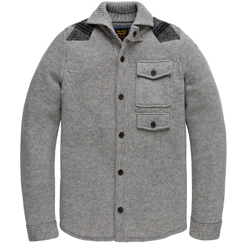 BUTTONED HIGHNECK CARDIGAN