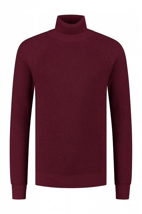 Rollneck Soft Cotton Dark Red