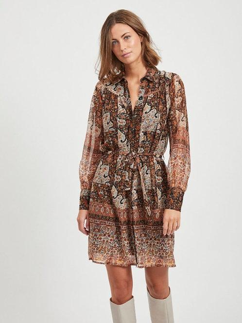 OBJARYA SHORT SHIRT DRESS