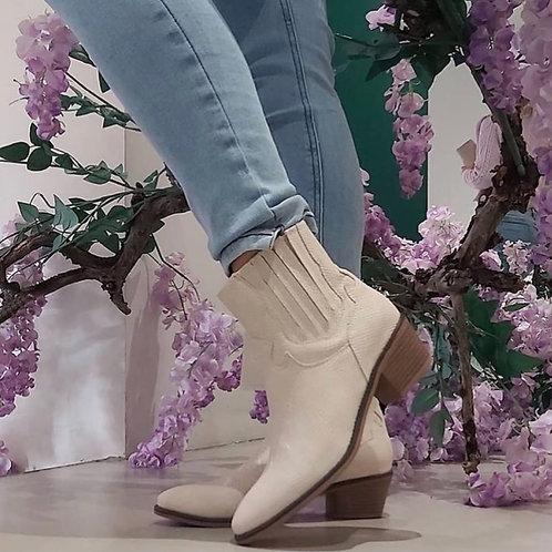 Fabs Western Boots Ecru
