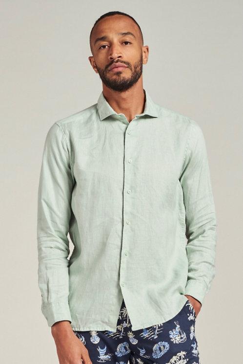 Jagger Shirt Linen Sea green