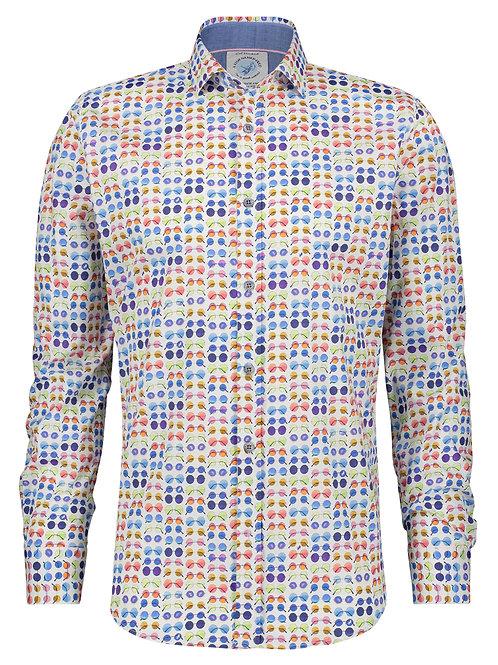 Shirt hippie glasses white