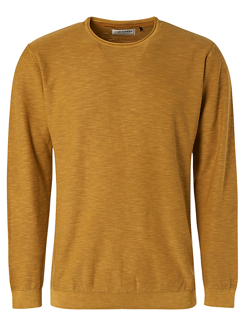 CREWNECK SLUB STONE WASHED GOLD