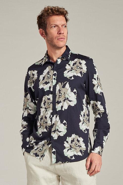303418 Shirt flower navy