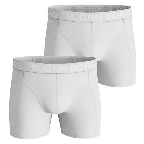 Björn Borg boxershorts Solid white 2-pack