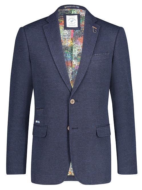 Blazer structure knit blue
