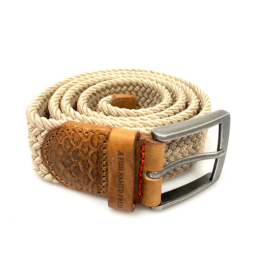 Braided elastic belt sand
