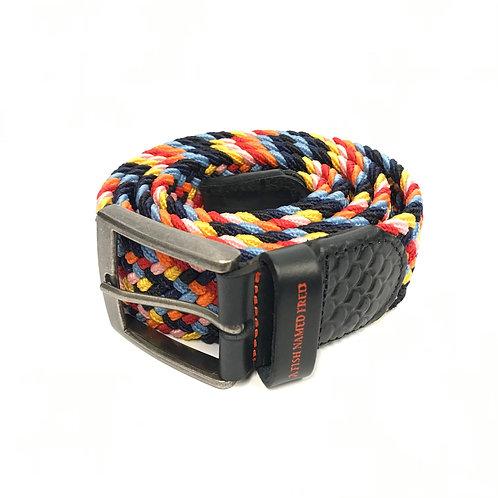 Braided elastic belt multicolour