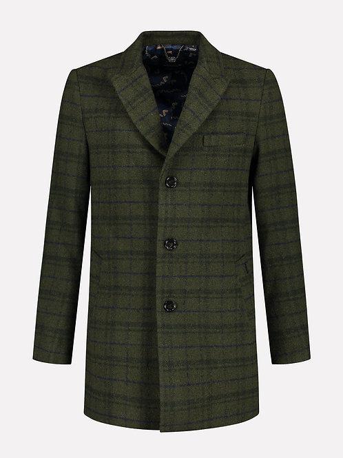 Dstrezzed Coat Wool Check