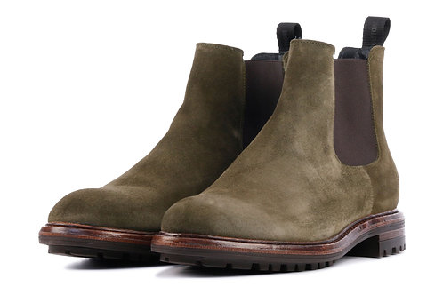 SUEDE CHELSEA BOOTS - OLIVE