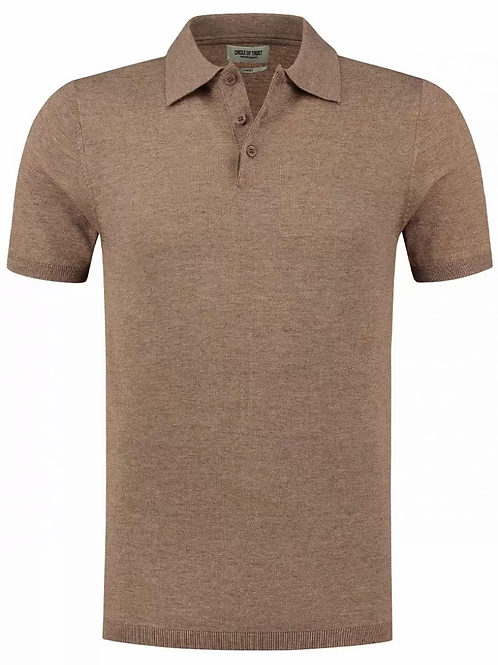 Brett Knitted Polo Ice Coffee
