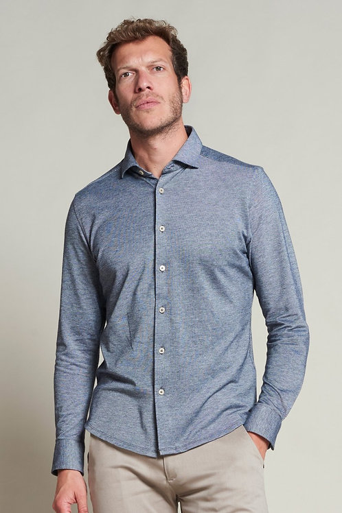 Shirt Melange Pique 303368 BLUE