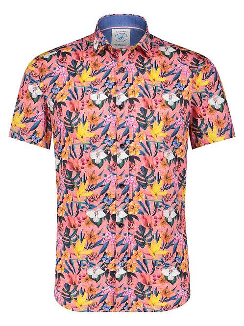 Shirt SS floral pink 22.03.076
