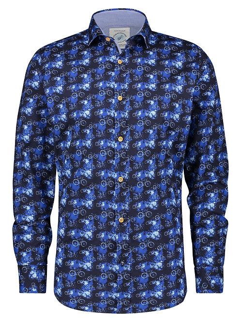 Shirt fietsen blauw