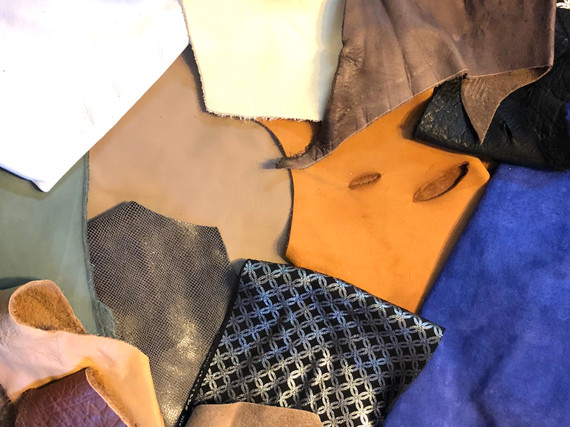 MORE LEATHER REMNANTS AND LARGER PIECES I HAVE