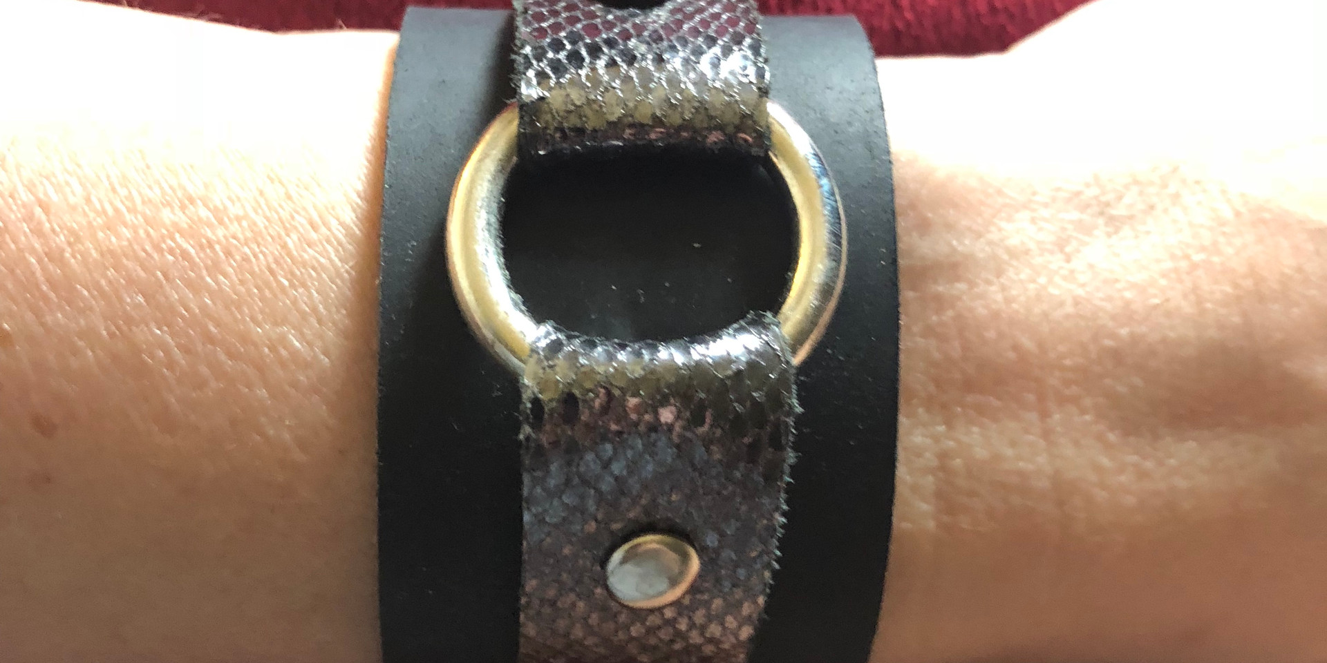 BLACK WITH PEWTER LEATHER & SILVER DETAIL
