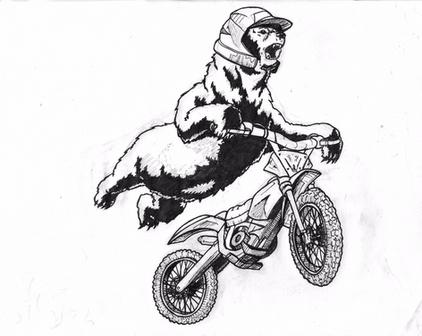 Moto Bear Ink