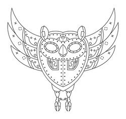 Cosmic Owl Tattoo