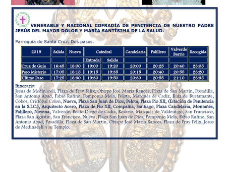 Martes Santo 2019 Cádiz