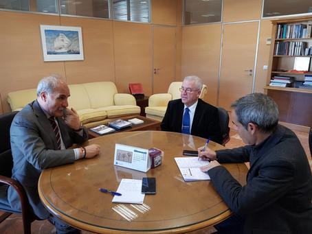 El Consejo de Hermandades mantiene un encuentro con el subdelegado del Gobierno en Cádiz