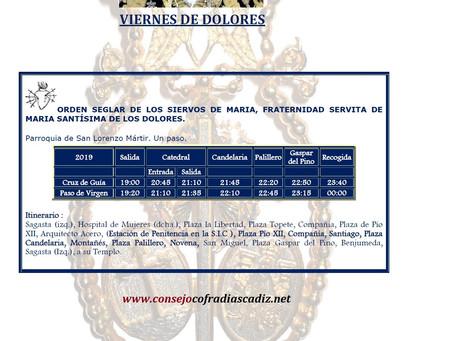 Viernes de Dolores Semana Santa 2019 Cádiz