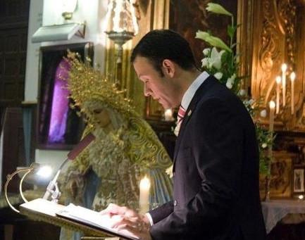 El pregonero de la Semana Santa visitará el jueves al Sr. Obispo de Cádiz