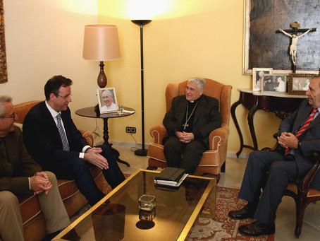 Recepción del Obispo de Cádiz-Ceuta al pregonero de la Semana Santa 2019