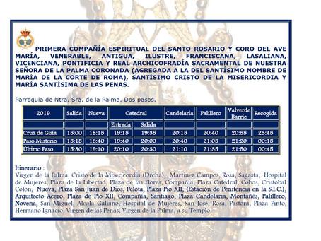 Modificación en el itinerario de La Palma