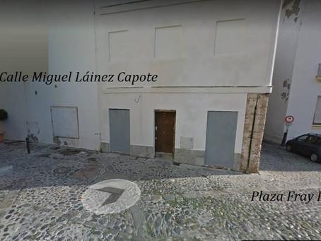 Acto de inauguración de la calle a Láinez Capote