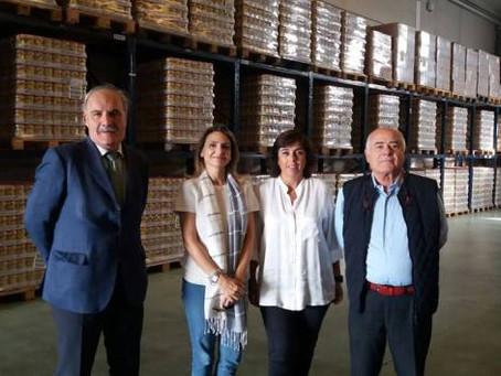 Jurado, en nombre de la Permanente, muestra su apoyo a la Gran Recogida del Banco de Alimentos