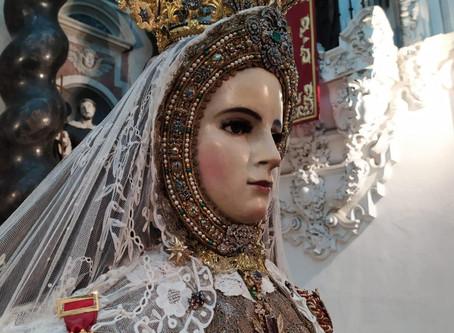 Rezo del Rosario y Salutación a la Virgen en las Vísperas de la fiesta de la Patrona de Cádiz