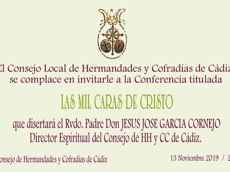 """""""LAS MIL CARAS DE CRISTO"""" Conferencia Curso Cofrade del Consejo"""