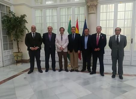 Juan Carlos Jurado se reúne con el delegado del Gobierno y con la consejera de Justicia e Interior