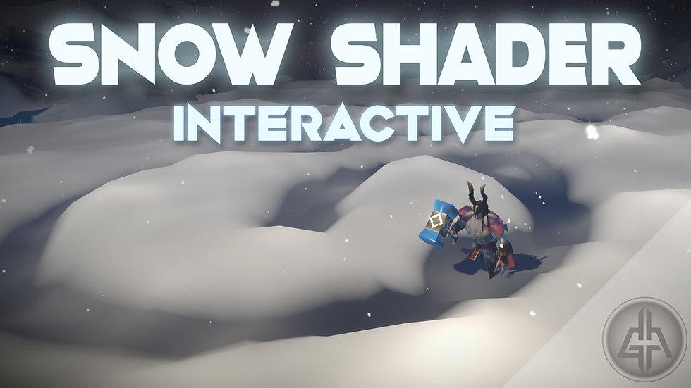 Shader Graph - Interactive Snow