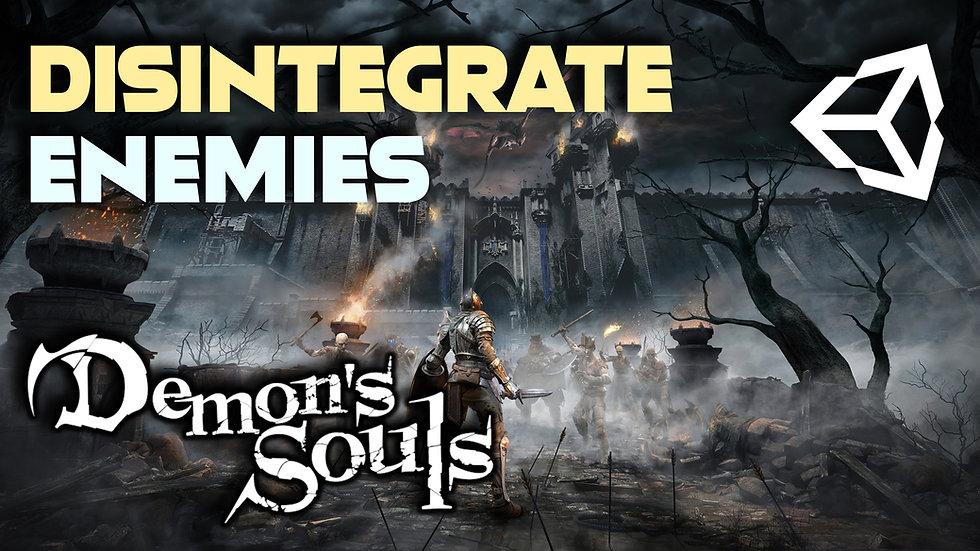 Disintegrate Enemies in Unity