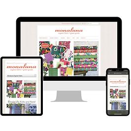 Monaluna Organic Fabrics Website Design and Development