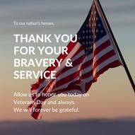 Copy of Teal Flag Photo Greeting Veteran