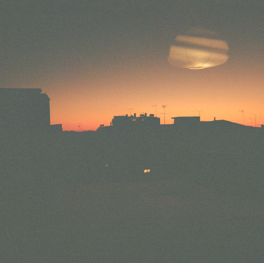 unidentified object in the sunset