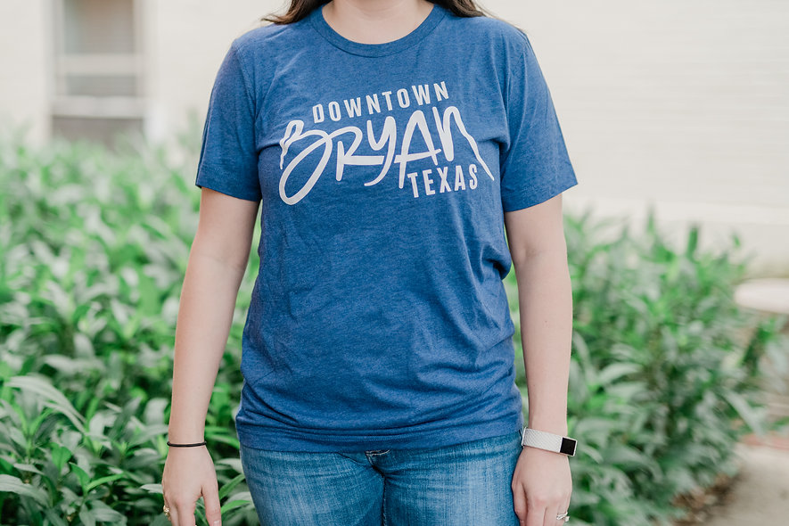 Downtown Bryan Navy T-Shirt
