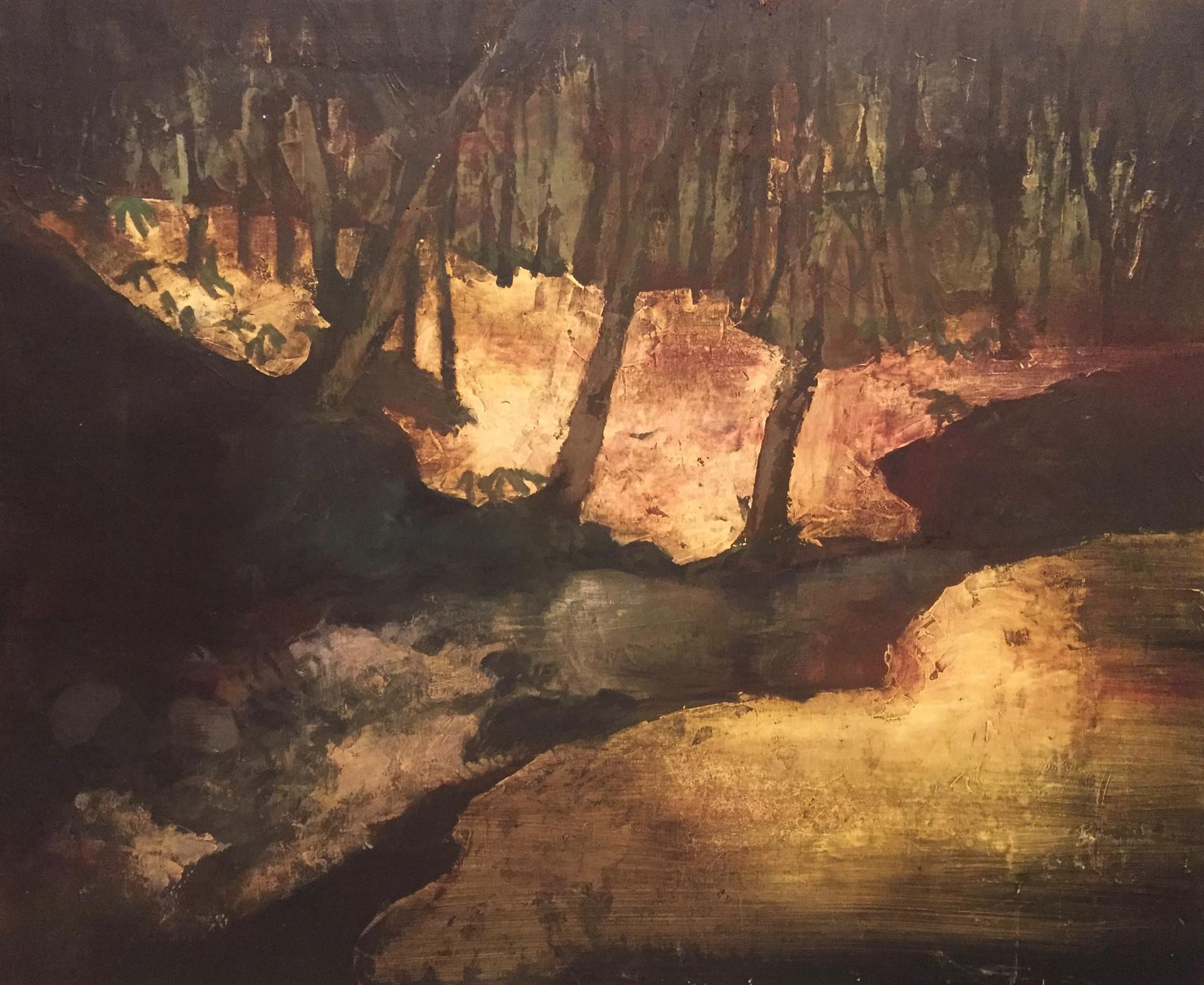 風景 | アクリル、油彩、木板 | 2016