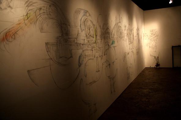 触覚的存在/風景 | 壁に鉛筆 | CAI02 札幌 | 2009