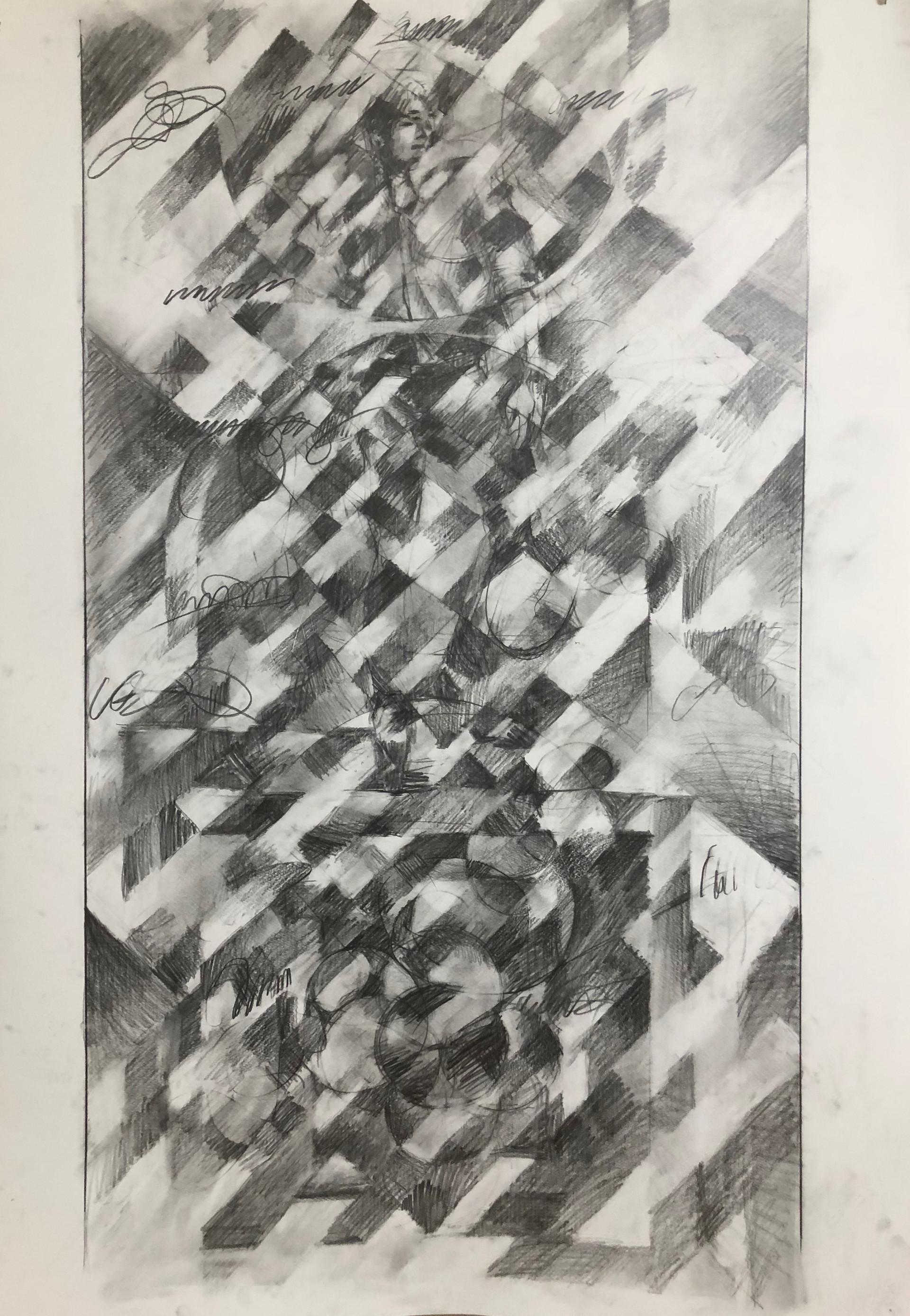 重力3 | 鉛筆、紙 1456mm ☓ 1030mm  | 2018