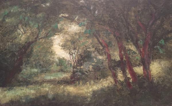 風景(手稲)   アクリル、油彩、木板 600mm×450mm   2016