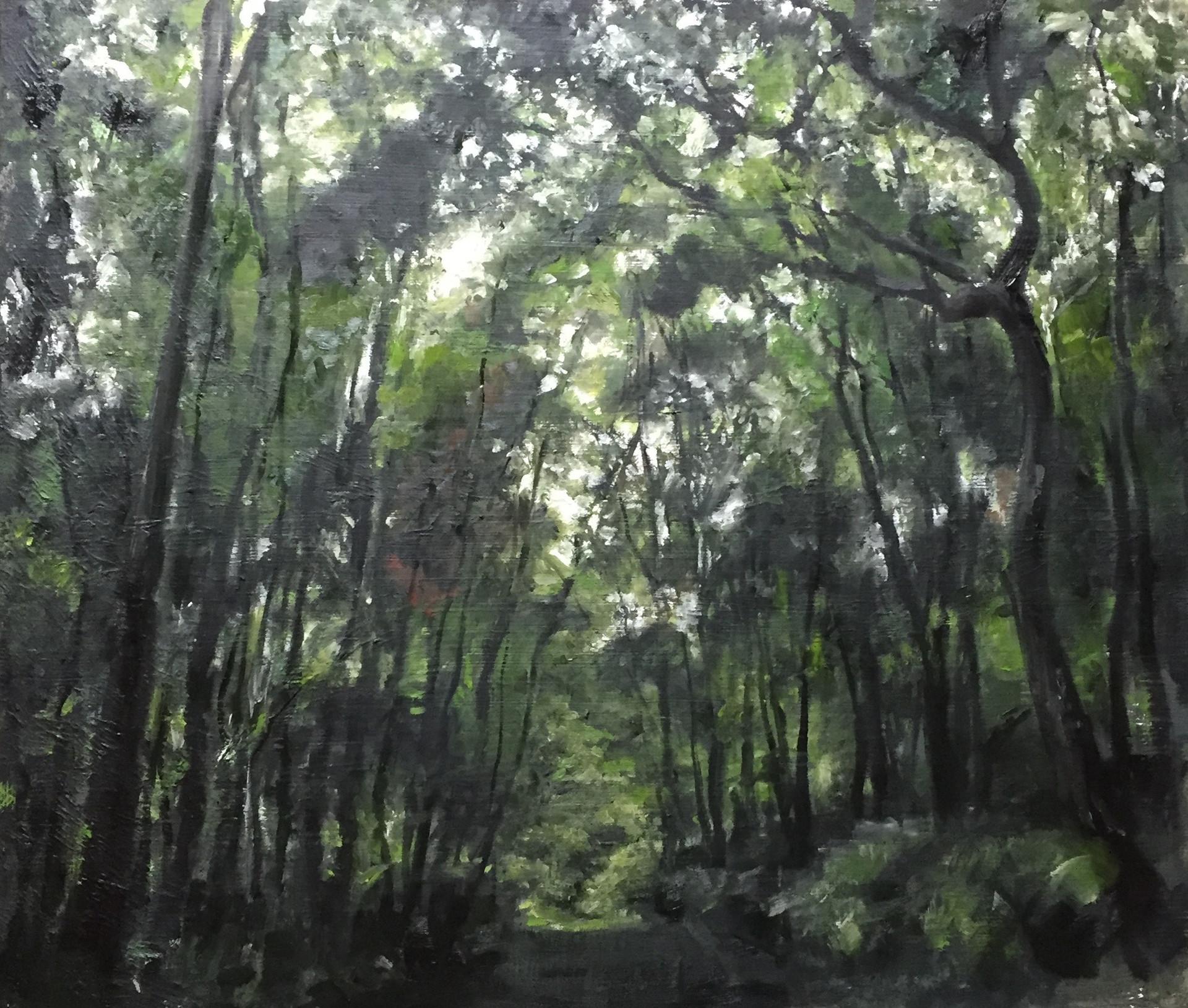 風景(手稲) | アクリル、油彩、木板 530mm×455mm | 2016