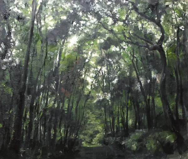 風景(手稲)   アクリル、油彩、木板 530mm×455mm   2016
